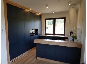 ВИВА - кухня матовая синяя без ручек