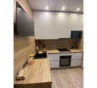 РЕНЦО - кухня белая глянцевая без ручек