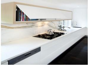 БЕРГЕН - кухня матовая белая без ручек