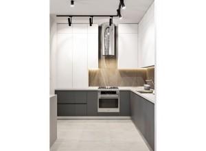 ГЛОРИЯ - кухня белая без ручек