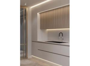 ЭСТЕЛИ - кухня белая глянцевая без ручек