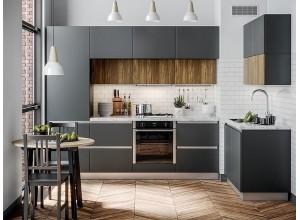 ГРАЦИЯ - кухня матовая белая без ручек