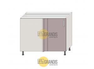 Кухонный корпус (стол) угловой+фальшпанель (1 полка) 720×1000×560 мм