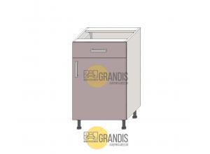 Кухонный корпус - стол (1 ящик+1 полка) 720×1000×560 мм