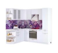Кухня Роби цвет белый металлик 2,4 метра - набирается поэлементно