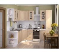 Кухня Полли цвет берёза 2,1 метра - набирается поэлементно