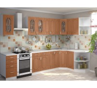 Кухня Полли цвет орех миланский 2,8 метра - набирается поэлементно