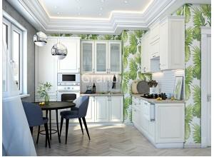 Кухня Шарлот цвет дуб фактурный кремовый 2,4 метра - набирается поэлементно