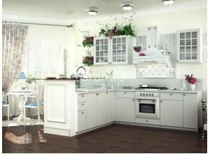 Кухня Деми цвет светлое дерево 2,5 метра - набирается поэлементно