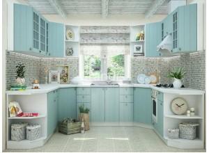 Кухня Деми цвет голубой 3 метра - набирается поэлементно