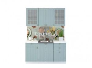 Кухня Деми цвет голубой 1,6 метра - набирается поэлементно