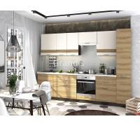 Кухня Смоки цвет ваниль софт - сосная белучи 3 метра - набирается поэлементно