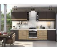 Кухня Смоки цвет смоки софт - сосная белучи 2,9 метра - набирается поэлементно