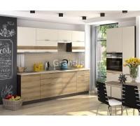 Кухня Смоки цвет ваниль софт - сосная белучи 3,3 метра - набирается поэлементно