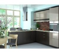 Кухня Галант цвет капучино глянец - венге 2,4 метра - набирается поэлементно