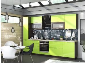 Кухня Смайл цвет лайм глянец - венге 3,2 метра - набирается поэлементно