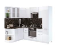 Кухня Смайл цвет белый глянец 2,4 метра - набирается поэлементно
