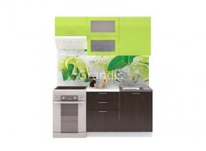 Кухня Смайл цвет лайм глянец - венге 1,8 метра - набирается поэлементно
