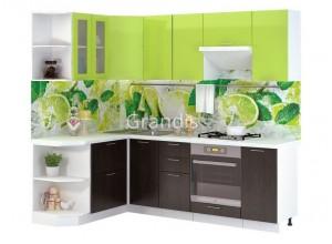Кухня Смайл цвет лайм глянец - венге 2,4 метра - набирается поэлементно