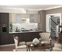 Кухня Тирон цвет смокки - латте софт 3,1 метра - набирается поэлементно