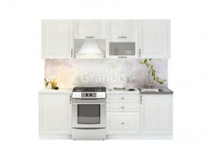 Кухня Юджи цвет белый дуб 2,4 метра - набирается поэлементно