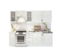 Кухня Юджи цвет белый дуб 2,6 метра - набирается поэлементно