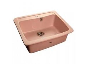 Мойка искусственный камень GF-S605 розовая