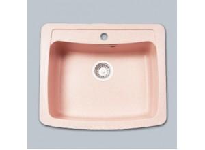 Мойка искусственный камень GF-S605 светло-розовая