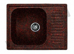 Мойка искусственный камень GF-S645L красный марс