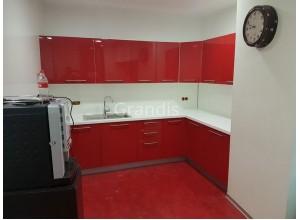 АНТА ГОЛА - кухня с прямым угловым столом (размер 3×1,1 метра)