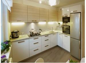 ЮРИО - кухня со стиральной машиной с фасадом (размер 2,3×2,8 метра)