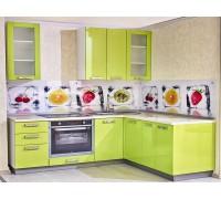 ИНДАСТРИАЛ - кухня с лимонными фасадами (размер 2,7×2,7 метра)