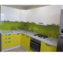 МОНО - кухня со стиральной машиной под общей столешницей (размер 1,8×2 метра)