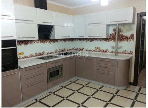 АКЦЕНТ - кухня с нишей под микроволновку (размер 3,4×1,8 метра)