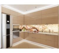 ВЕНЕЦИЯ - кухня с горизонтальными шкафами (размер 2,5×1,5 метра)
