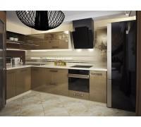 ВЕНЕТО - кухня с вертикальной вытяжкой (размер 1,7×1,1 метра)