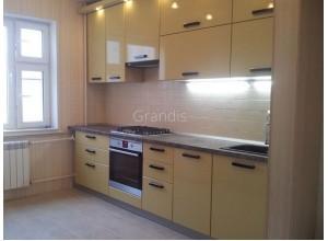 СОЛАНЖ - кухня со встроенным холодильником в пенал (размер 3 метра)