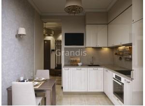 БРИЗ - кухня с фасадами постформинг (размер 2,1×2,3 метра)