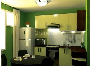 ЛОРЕНА - кухня со светлым фартуком (размер 3,3×2,8 метра)