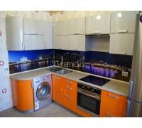 СКАРЛЕТ - кухня со стиральной машиной под столешницей (размер 1,6×2,5 метра)