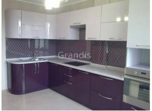 ЖЕНЕВА - кухня с горизонтальными шкафами открывающимися вверх (размер 1,8×2,3 метра)