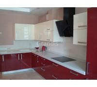 БРИАННА - кухня с фасадами пластик HPL (размер 2,2×2,8 метра)