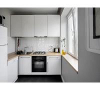 РИАННОН - кухня с подсветкой под шкафами (размер 1,6×2,1 метра)