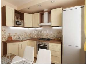 ПЕРНИЛЛЕ - кухня с навесными шкафами (размер 2,2×1,7 метра)