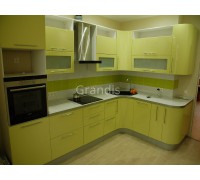 ФРЕЙЯ - кухня с лимонными фасадами (размер 2,3×2,5 метра)