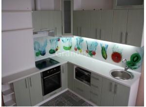 АВИТАЛЬ - кухня с фасадами постформинг (размер 3,3×1,3 метра)