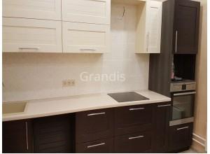 ДОЛОРЕС - кухня с невысокими навесными шкафами (размер 2,9 метра)