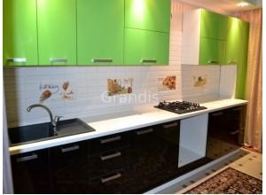 ИЗАБЕЛЬ - кухня с горизонтальными шкафами открывающимися вверх (размер 2,6 метра)