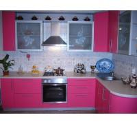 МОНИКА - кухня со светлым фартуком (размер 1,6×1,3 метра)