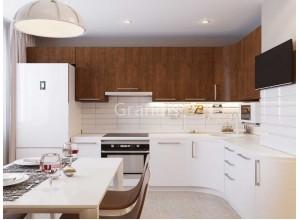 РЕНАТА - кухня с подсветкой под шкафами (размер 2,4×2,4 метра)